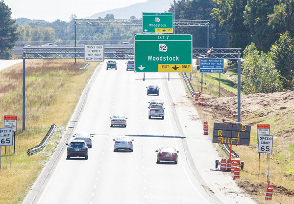 Managed lane construction comes into Cherokee