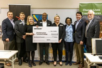 Verizon 100K Grant Presented at Chatt Tech