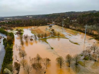 Heritage Park flooding 1