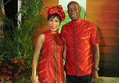 Dr Keith Rowley and his wife Sharon