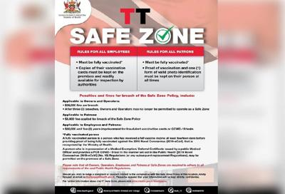 The TT safe zone certificate.