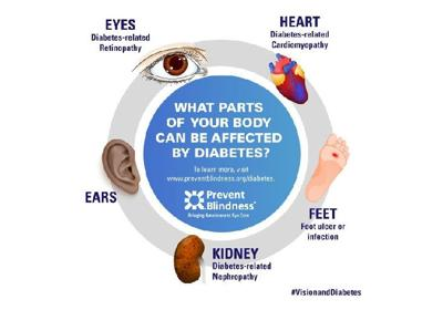 Parts of the Body Affected by Diabetes