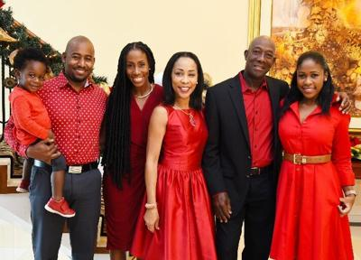 Prime Minister Dr Keith Rowley with his family