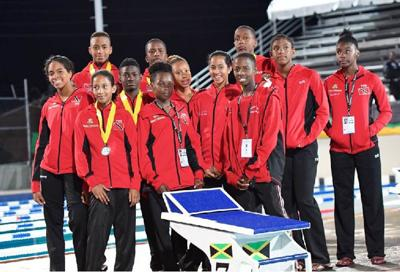Members of Team T&T's Boys and Girls 11-12 squad
