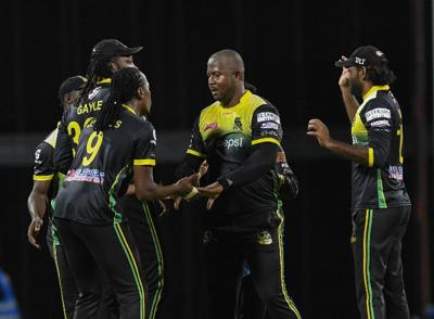 Jamaica Tallawahs players