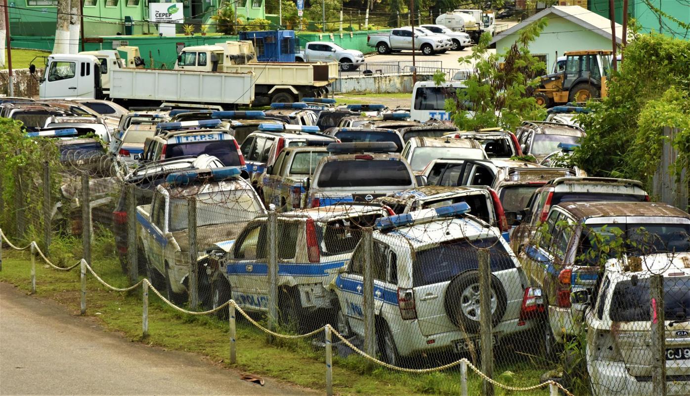 Ste Madeleine site for wrecked police vehicles.JPG
