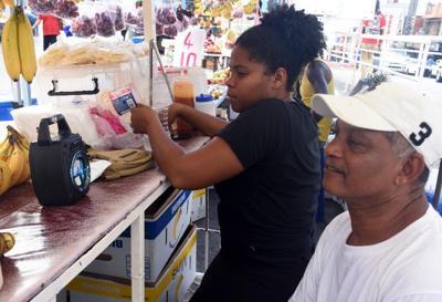 Vendors at Library Corner