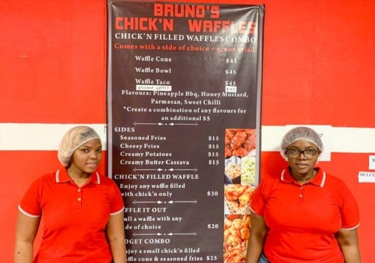 The owners of Bruno's Chick n Waffles
