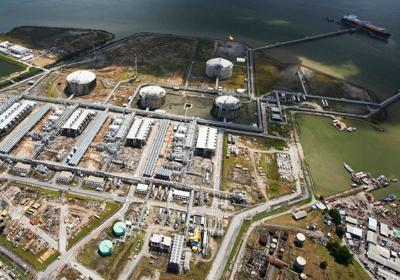 Natural gas plant in Point Fortin