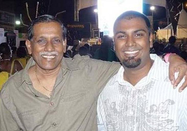 Jit and his son Amrit Samaroo
