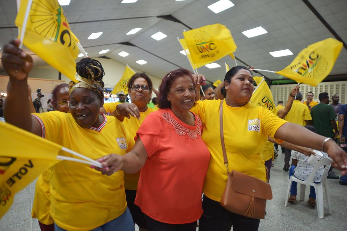 UNC supporters celebrate the Local Government Election