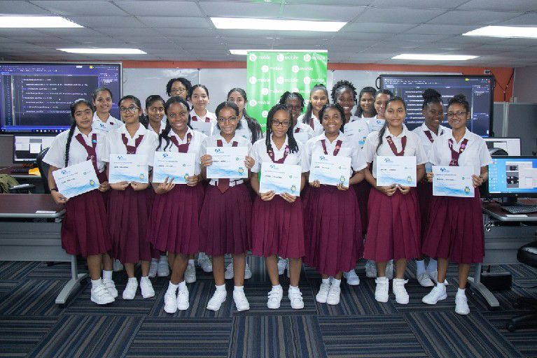 Proud Holy Faith Convent pupils