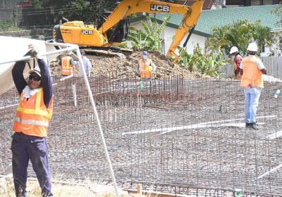 Construction resumed