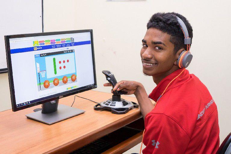 Trainee DeAngelo Rampersad