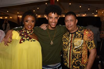 Gary Griffith with his wife and son