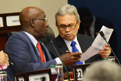 Dr. Keith Rowley and Colm Imbert
