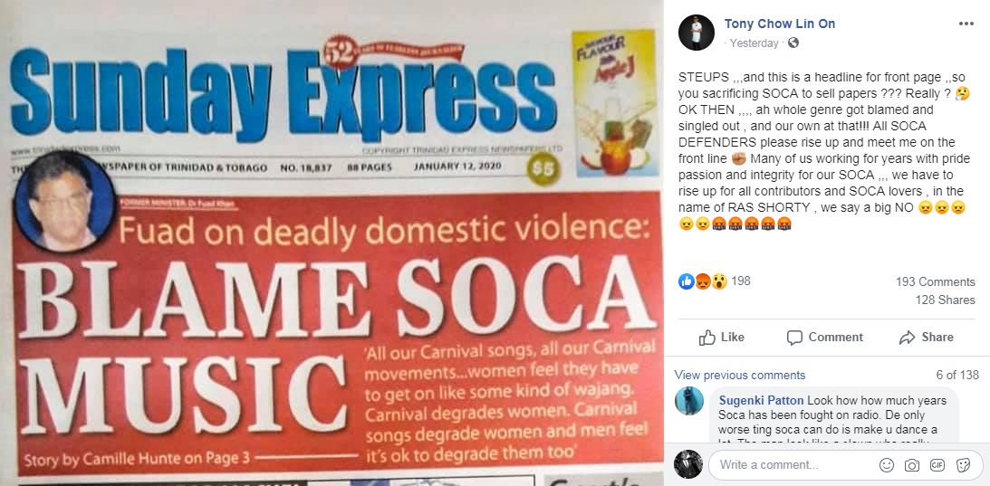 """Laundry Express cover """"Blame Soca Music"""""""