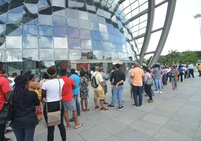 Long lines for Carifesta tickets