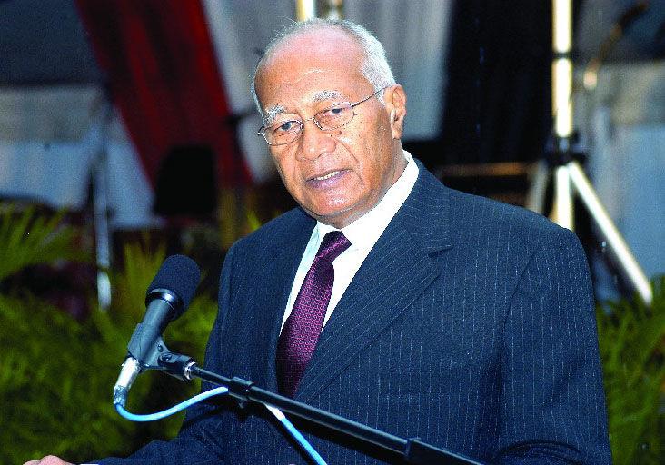 Former president George Maxwell Richards