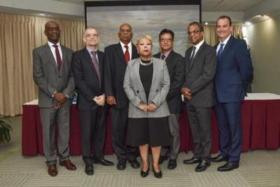 Governor of the Central Bank Dr Alvin Hilaire