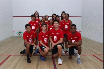 The Trinidad and Tobago Junior Squash team
