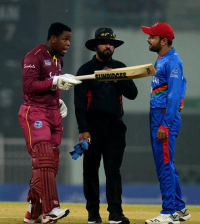 West Indies' batsman Shimron Hetmyer