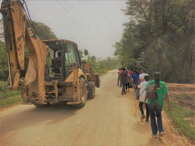 Excavators going to quarry