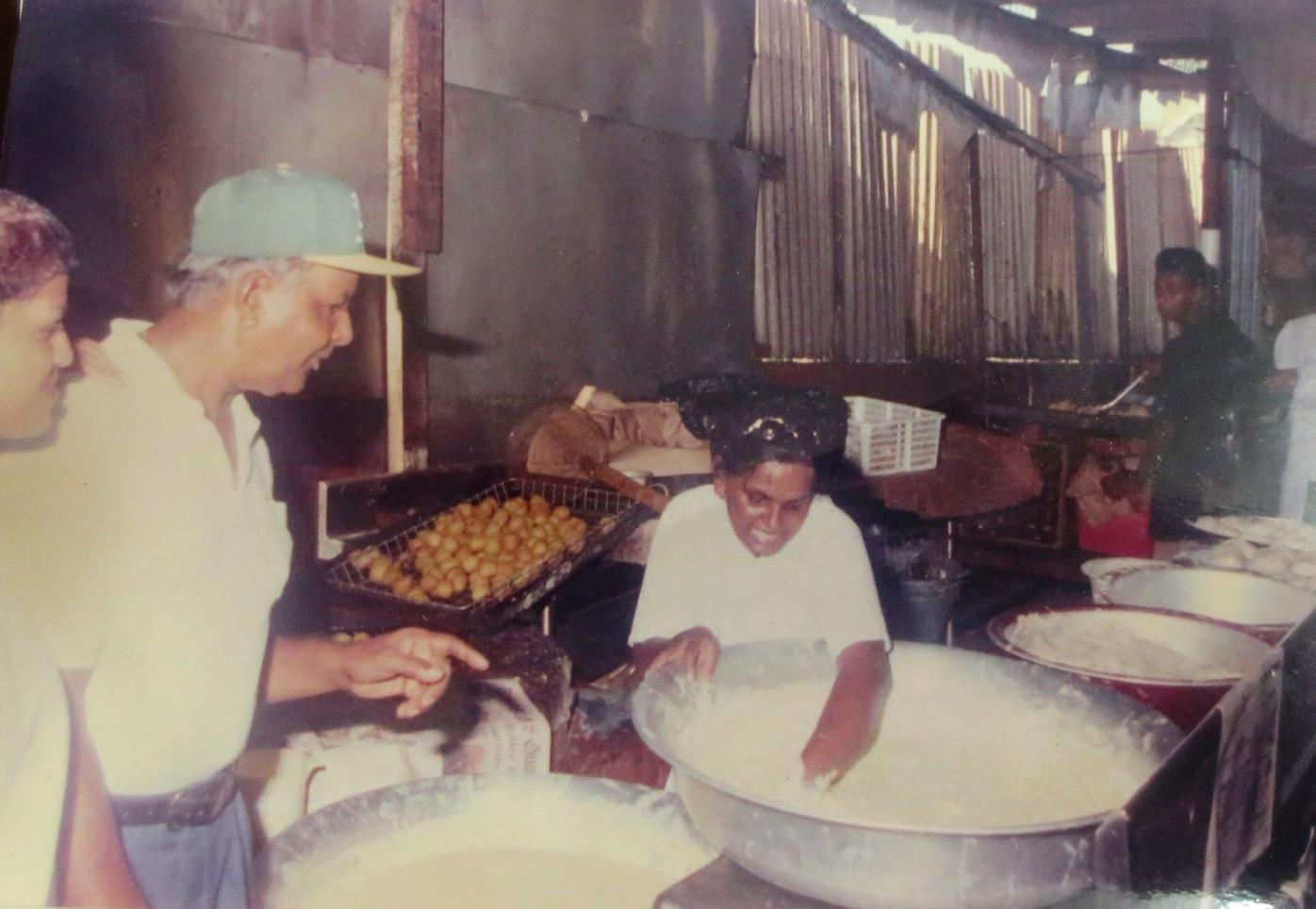 Mustapha Ali at his doubles factory.JPG