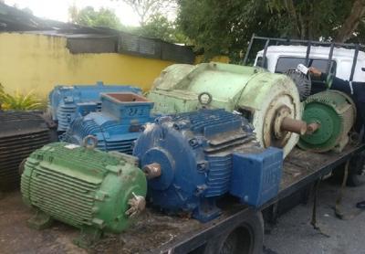 Heavy oil equipment comprising 19 electrical motors