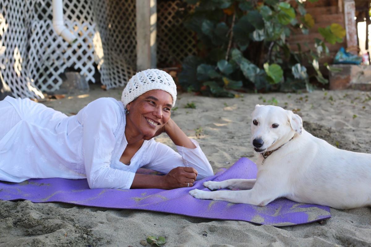 Elspeth Duncan and her dog Venus