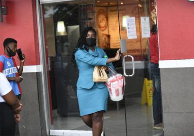 A customer leaves KFC