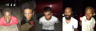 five men held following a break-in
