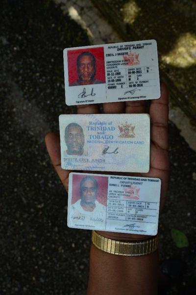 Cecil Skeete's ID card
