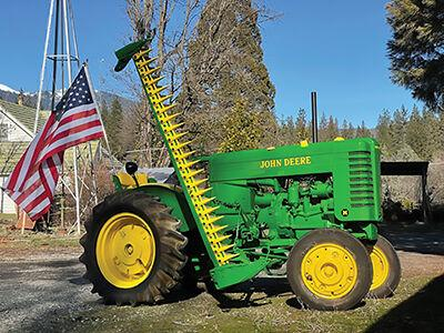 Vintage 1952 Model M John Deere tractor
