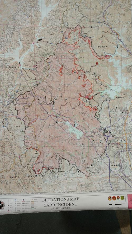 Carr Fire Map Aug 12 Local News Trinityjournal Com