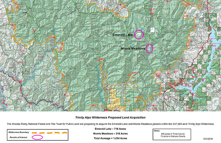 Forest Service seeks to acquire coveted parcels within Trinity Alps ...