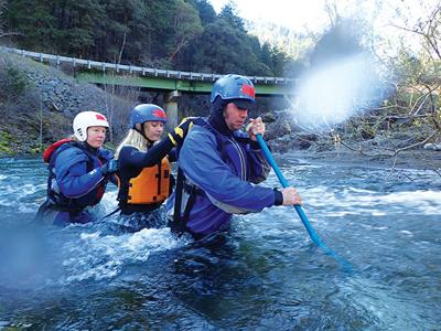 Whitewater guide school