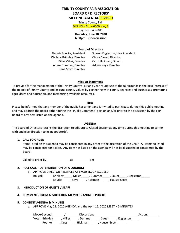 TC Fair Association, June 18