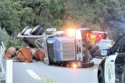 Truck crash on 299