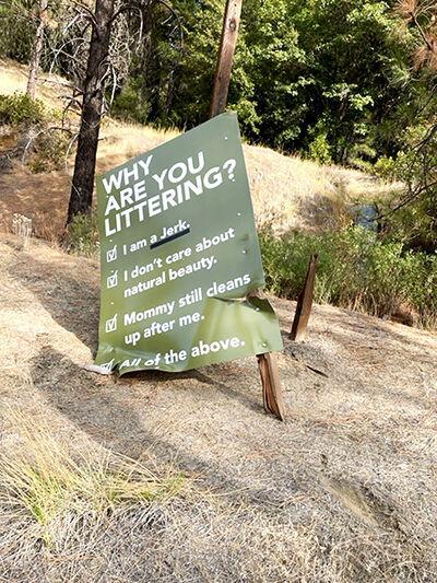 Lewiston Litter sign