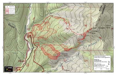 Middle fire map Sept. 14