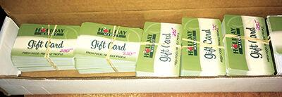 Holiday Market gift cards