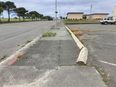 Crescent City sidewalk
