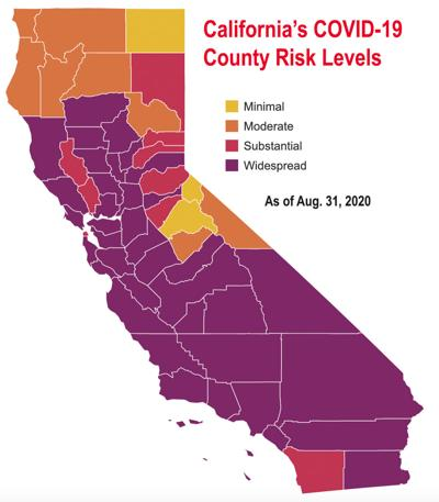 COVID-19 Risk Map Aug 31