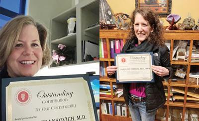 Medical society honors local physicians