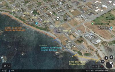 Beach fire map