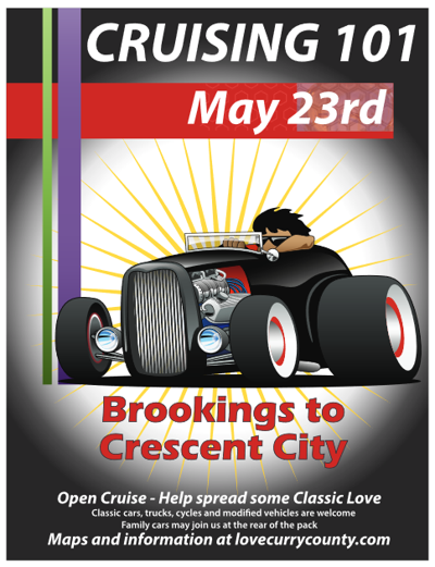 Car cruise poster