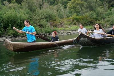 Yurok canoe tour