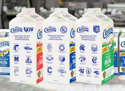 Football milk cartons