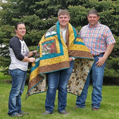 OSL quilts gifted to grads